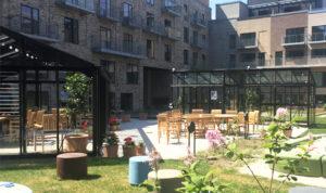 Væksthuse i Lærkeholm på Sluseholmen