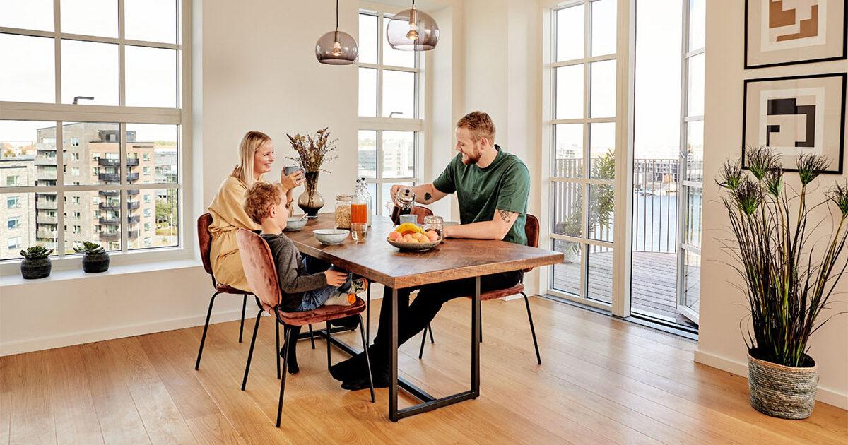 Familie på Sluseholmen