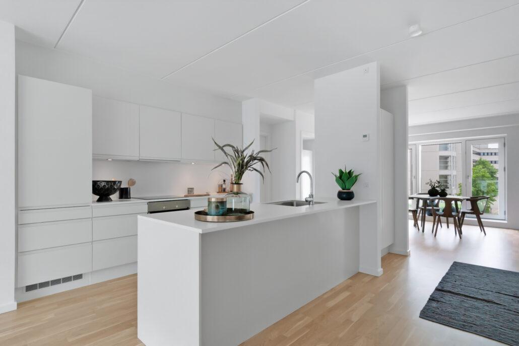 Køkken-alrum i Molehuset på Sluseholmen